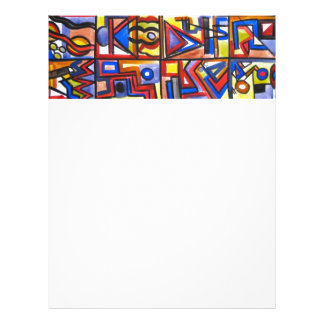 Urban Street Two-Modern Art Geometric Handpainted 21.5 Cm X 28 Cm Flyer