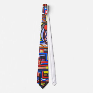 Urban Street Two-Modern Art Geometric Handpainted Tie
