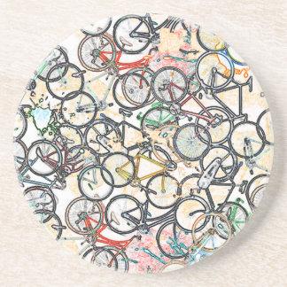 urban style bicycle pattern coaster