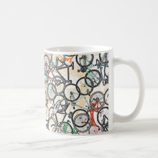 urban style bicycle pattern coffee mug