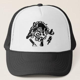 Urban style black stencil hats