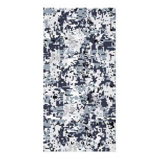 Urban Style Silver Digital Camouflage Customized Photo Card