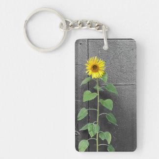 Urban Sunflower Single-Sided Rectangular Acrylic Key Ring