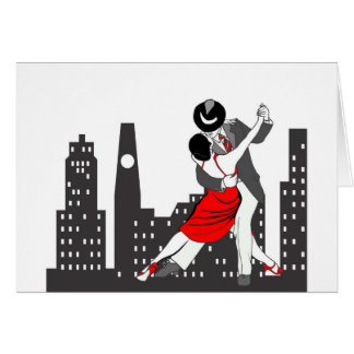 Urban tango greeting card