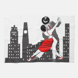 Urban tango tea towel