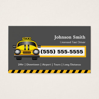 Urban Taxi Driver Chauffeur - Yellow Cap Business Card