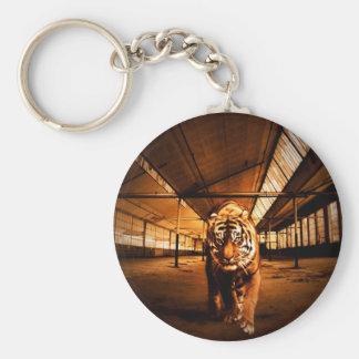 Urban tiger basic round button key ring