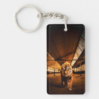 Urban tiger Single-Sided rectangular acrylic key ring