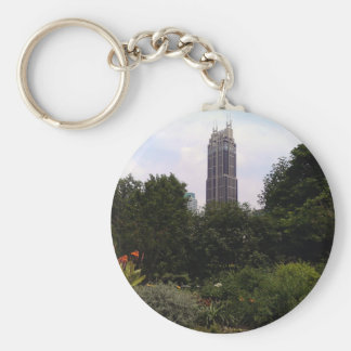 Urban tower and park basic round button key ring