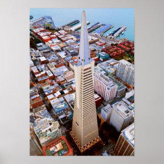 Urban Town Skyscraper Poster