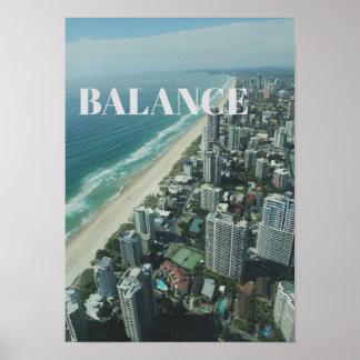 Urban Travel Big City Buildings Ocean Poster
