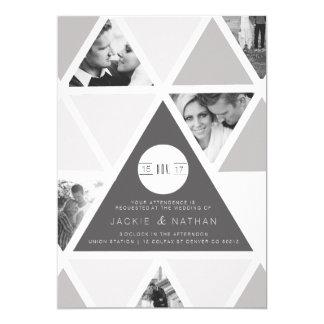 Urban Triangle Overlay | Modern Wedding 13 Cm X 18 Cm Invitation Card