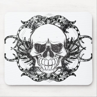 Urban tribal skull mouse pad