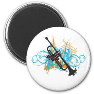 Urban Trumpet 6 Cm Round Magnet