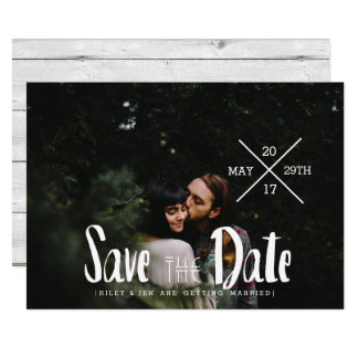 Urban Typography | Save The Date Photo Card