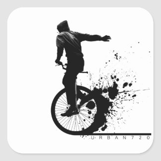 Urban Unicycle A Square Sticker