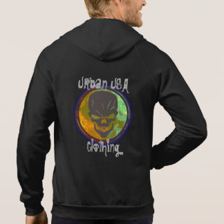 Urban USA Skull Fire Zip up Hoodie