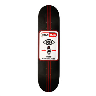 Urban Video Surveillance Custom Pro Park Board 21.6 Cm Skateboard Deck