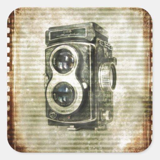 urban Vintage Grunge Retro Camera film Stickers