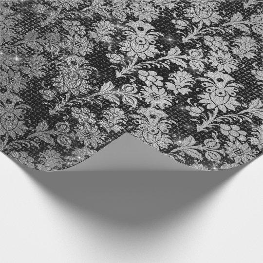 Urban Vintage Mix Sparkly Black Floral Silver VIP