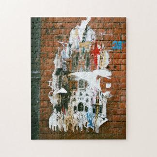 Urban wall art puzzle