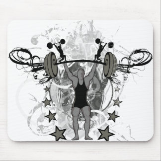 Urban Weightlifter Illustration Mouse Mat