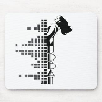 Urban woman mouse mat
