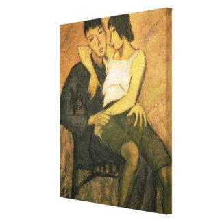 Urbanite Couple, 1920 (oil on canvas) Canvas Prints
