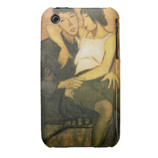 Urbanite Couple 1920 oil on canvas iPhone 3 Cases