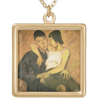 Urbanite Couple, 1920 (oil on canvas) Jewelry