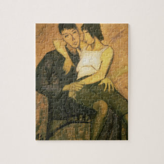 Urbanite Couple 1920 oil on canvas Jigsaw Puzzles