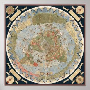 URBANO MONTE'S 1587 Earth Map Poster