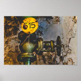 Urbex 515 high contrast poster