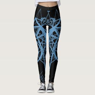 UrbnCape Geometric Blue designer yoga leggings