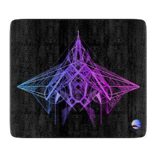 UrbnCape Geometric Neon Purple cutting board