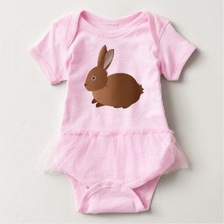 UrbnCape UrbnBunny babygrow tutu in pink and brown Baby Bodysuit