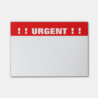 """Urgent"" Priority Post-it Notes"