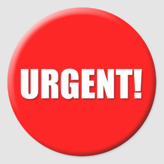 Urgent Sticker (Small)