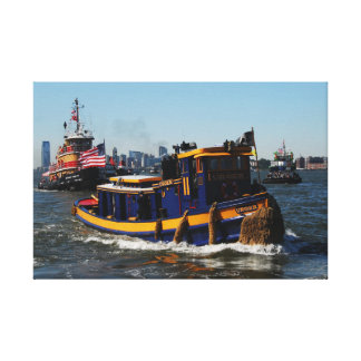 Urger 2008 NYC Tugboat Races Stretched Canvas Print