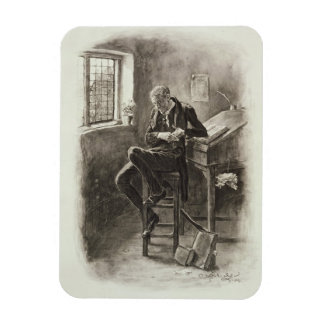 Uriah Heep, from 'Charles Dickens: A Gossip about Rectangular Photo Magnet