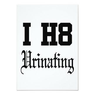 urinating 13 cm x 18 cm invitation card