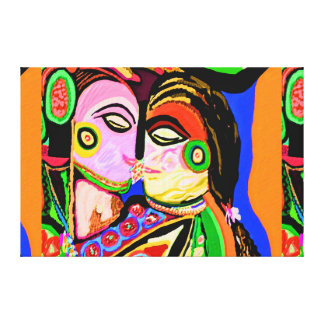 Urja Sensual Art : Indian Cave Style Stretched Canvas Print
