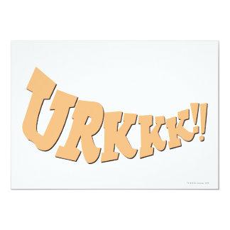 URKKK!! 13 CM X 18 CM INVITATION CARD