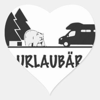 Urlaubär Heart Sticker