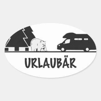 Urlaubär Oval Sticker