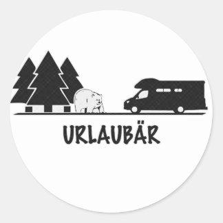 Urlaubär Round Sticker