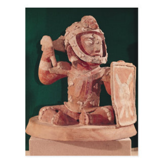 Urn lid with a figure of a warrior postcard