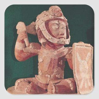 Urn lid with a figure of a warrior square sticker