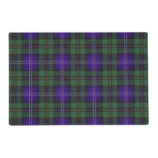 Urquart clan Plaid Scottish tartan Laminated Place Mat