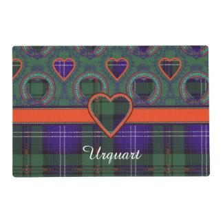 Urquart clan Plaid Scottish tartan Laminated Placemat